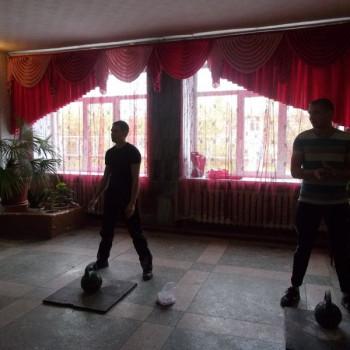 Соревнования по гиревому спорту в селе Межениновка