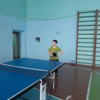 Tренировка по настольному теннису